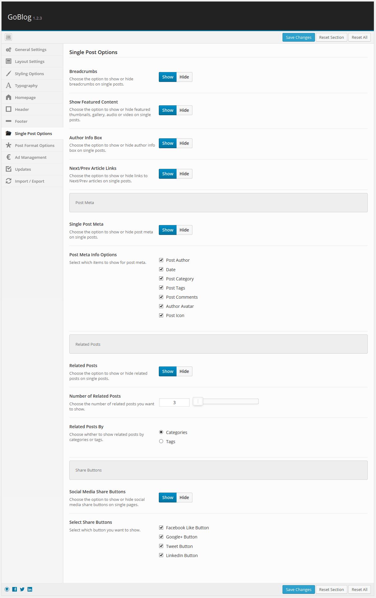 Single Post Options